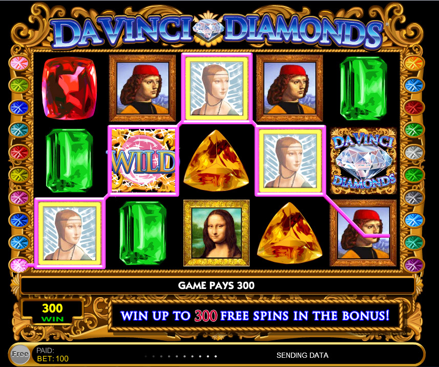 free slots da vinci diamonds