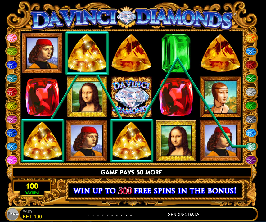 davinci diamonds slot machine game